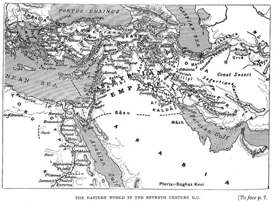 The Eastern World in the Seventh Century B.C. [op. p.7]