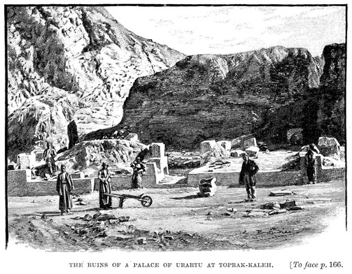 The ruins of a palace of Urartu at Toprak-Kaleh [op. p.166]