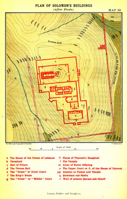 MAP X. Plan of Solomon's Buildings (after Stade) – facing p.59